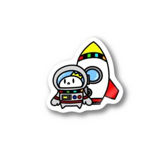 スペースマシュマロ。 Stickers