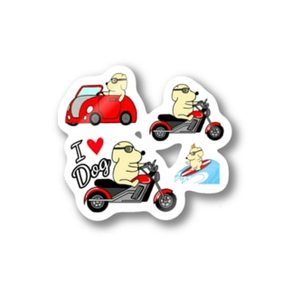 クソ犬SHOPのミニステッカー Sticker