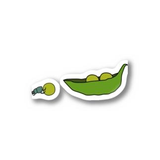 えんどう豆を運ぶフンコロガシ Stickers
