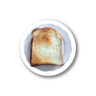 トースト on プレート Stickers