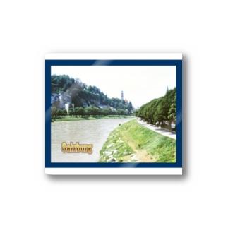 オーストリア:ザルツァハ川の風景写真 Austria: view of Salzach river in Salzburg Stickers