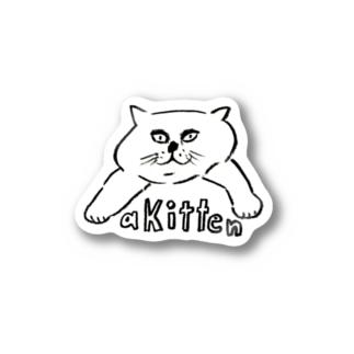 a kitten cat ステッカー