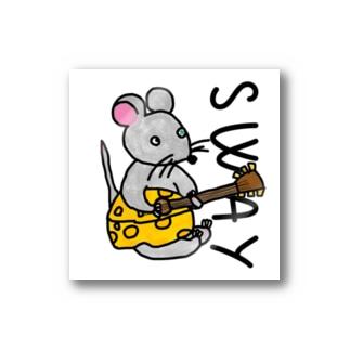 ネズミくん チーズギター Stickers
