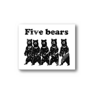 Five bears Stickers