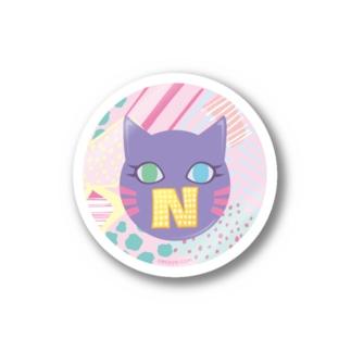 N猫♡パープル Stickers