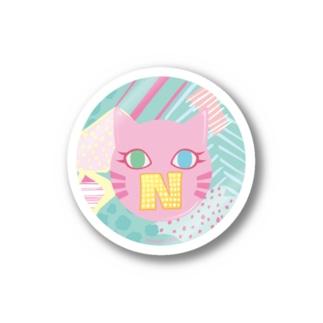 N猫♡ピンク ステッカー