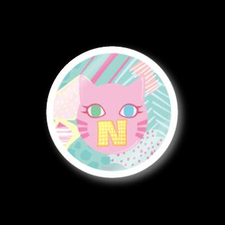 猫屋のN猫♡ピンク Stickers