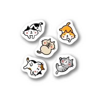 だらけネコだらけ ステッカー Stickers