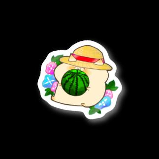 萩原おはぎの白胡麻 夏 Stickers