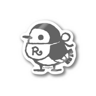 リルフィ ステッカー グレイ Stickers