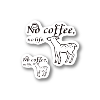 No coffee,no life.ST2 Stickers