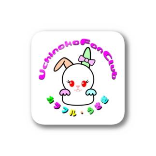 カラフルうさぎ 2-2 (ステッカー) Stickers