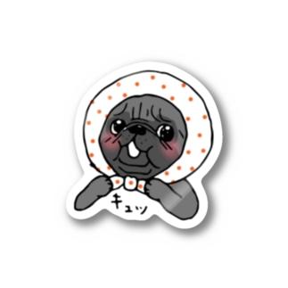 ほっかむりパグちゃん Stickers