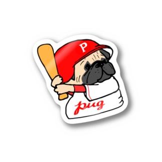 野球っこパグちゃん Stickers