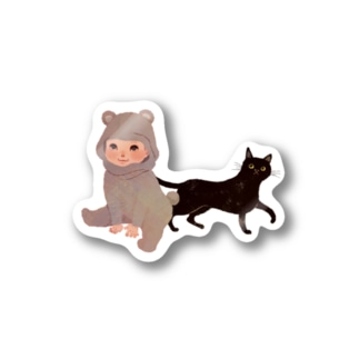 BearBaby&Cat Stickers