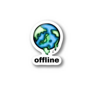 offline/online Stickers