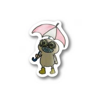 雨降り Stickers