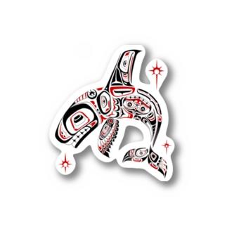 ハイダトライバル-シャチ- / HaidaTribal-Killer Whale,Olca- Stickers