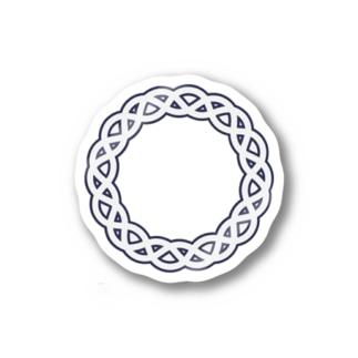 Dominant Yumeno logo 背景透過Ver Stickers