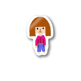女の子ステッカー Stickers