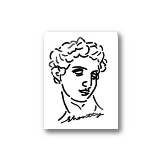 石像くんロゴステッカー Stickers