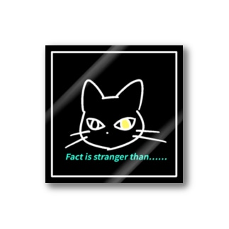 Fact is stranger than...... black Stickers