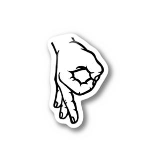HAND sign 「P」ステッカー Stickers