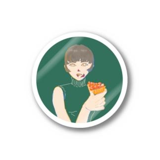 食後のデザート Stickers