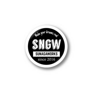 SNGWロゴステッカー黒 Stickers