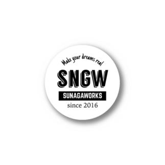 SNGWロゴステッカー白 Stickers