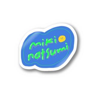 みきなつみのロゴステッカー Sticker