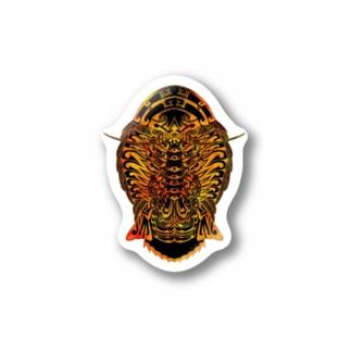 グソクムシトライバルステッカー黄 Stickers