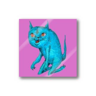 毒猫ステッカー Stickers