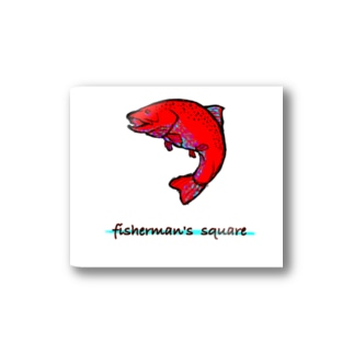 fisherman's square『Red trout』 Stickers