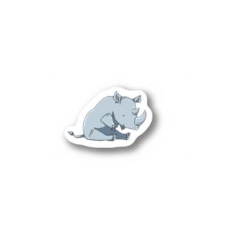 屈伸するサイ Stickers