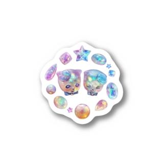 オパールの国の宝石猫 Stickers