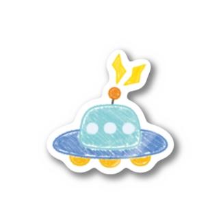 クレヨンでUFO Stickers