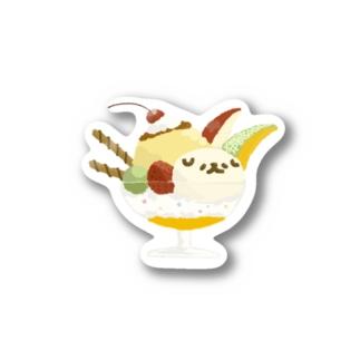 SUNDAYつら犬サンデー Stickers