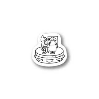 Le TAMBOURIN web storeのCut cat Stickers