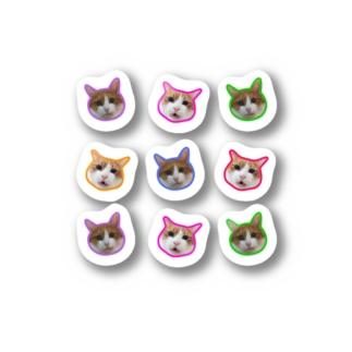 保護猫支援ショップ・パール女将のお宿のおこ&ぴえん Stickers