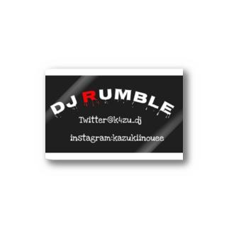 DJ RUMBLE ステッカー Stickers