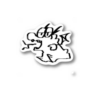 ワニ村inドラゴンコスチューム Stickers