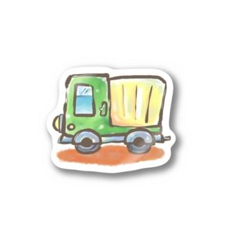 YUMIイラスト工房 オフィシャルののりもの トラック Stickers
