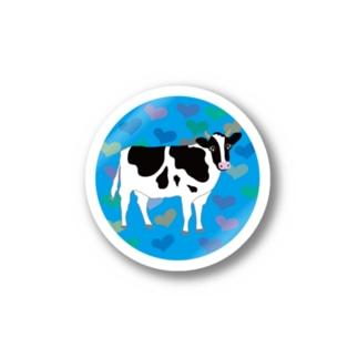 牛さんモーモー Stickers