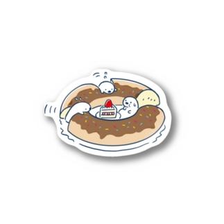 ラッッッコ「ドーナツ早食い」 Stickers