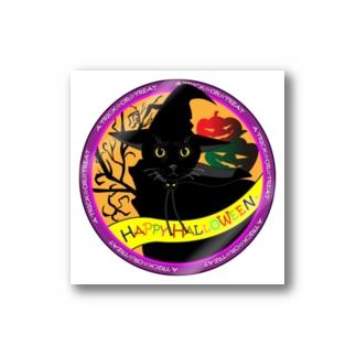 ハロウィン黒猫バージョン Stickers