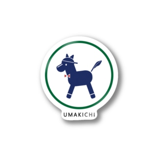 umakichi ロゴ Stickers