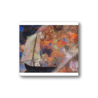 オディロン・レドン / Flower Clouds / 1903 / Odilon Redon. Stickers