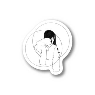 ○顔隠すちゃん。ステッカー Stickers