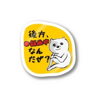 後方録画中 イケメンくまお  Sticker